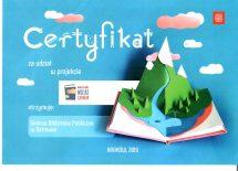 Więcej o: Certyfikat przyznany przez Instytut Książki